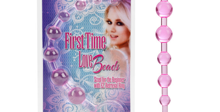 California Exotics First Time Love Beads Pink