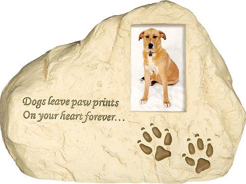 Dog Paw Prints Rock Urn