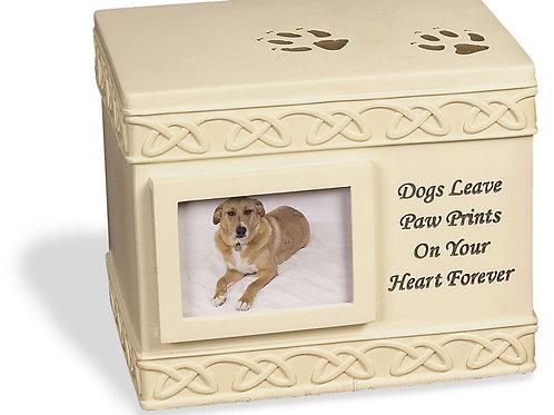 Dog Paw Prints Box Urn