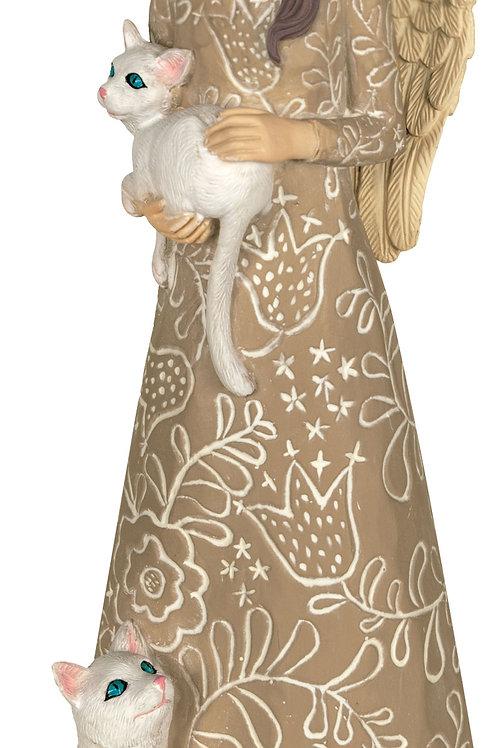 Purrr-fect Angel Pawsitive Angel Figurine