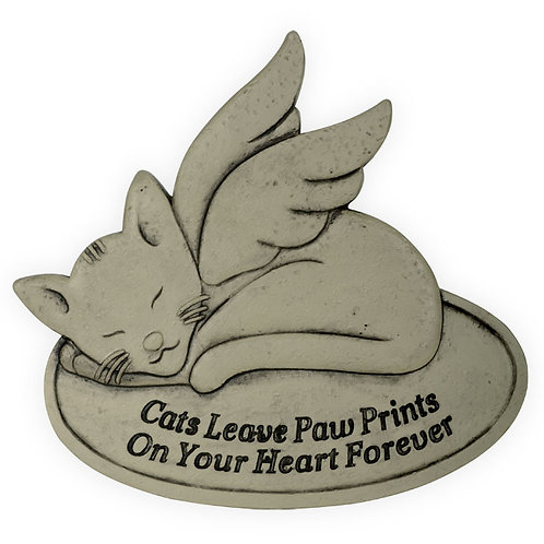 Memorial Garden Stone - Cats Leave Paw Prints on Your Heart Forever