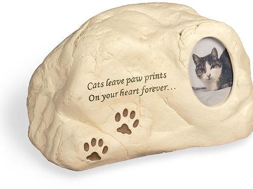Cat Paw Prints Rock Urn