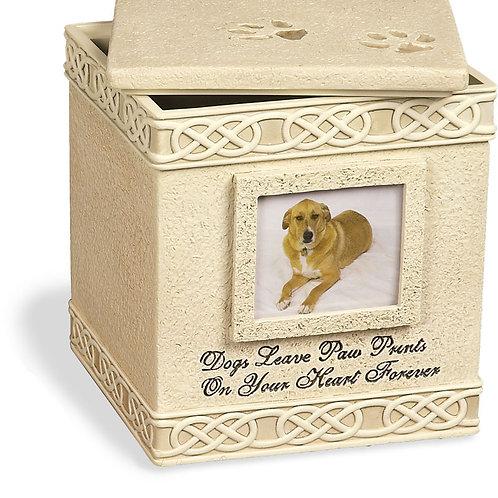 Dog Paw Prints Memory Box