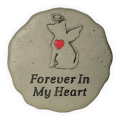 Memorial Garden Stone - Forever in My Heart - Dog
