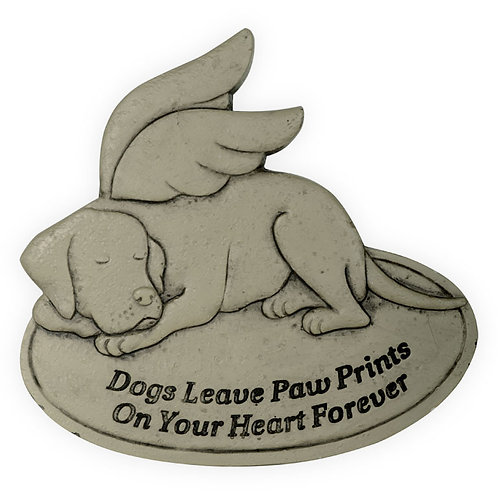 Memorial Garden Stone - Dogs Leave Paw Prints on Your Heart Forever