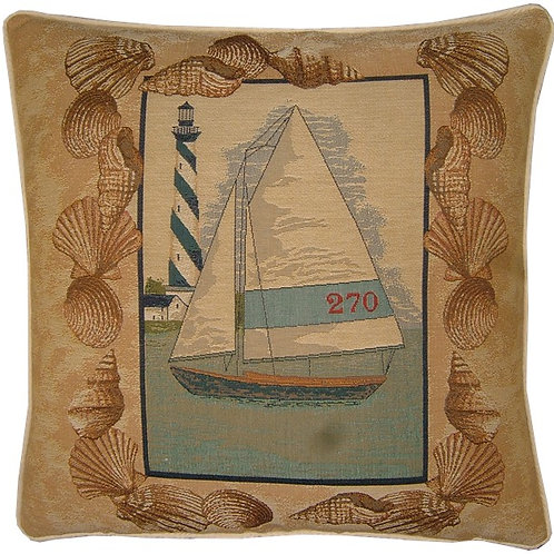 Sailing Yacht 270 Tapestry Cushion Cover