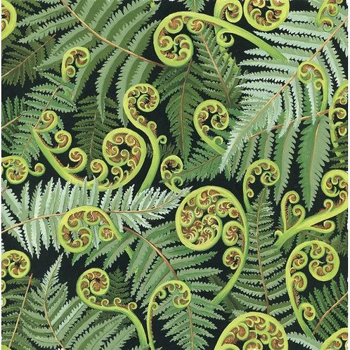 Nutex Kiwiana Koru Frond Quilt Fabric 89440