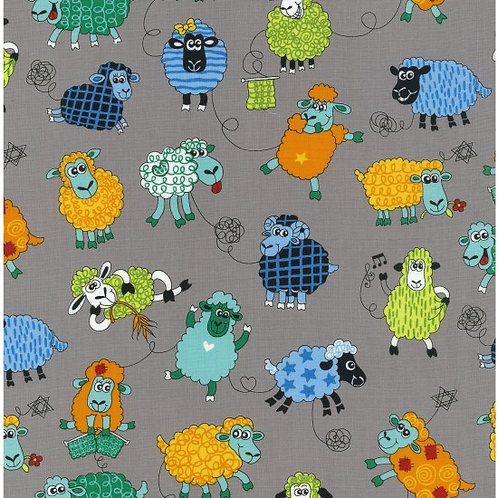 Nutex Novelty Farm Fun Sheep 80500 Col2 Quilt Fabric