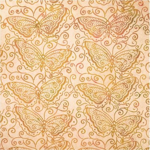 Mirah Zriya Pearl Drops Batik Dusty Apricot P/PL-02-5701 Quilt Fabric