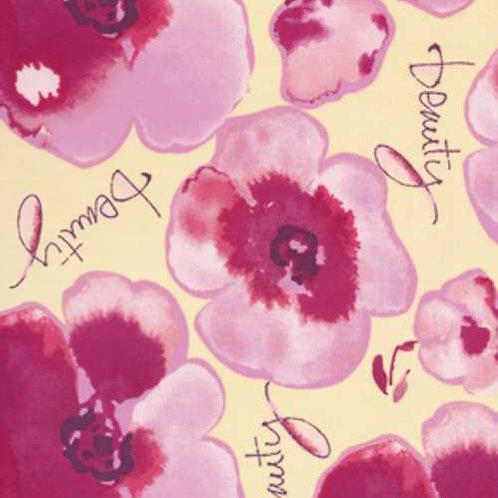 Kathy Davis JOURNEYS Floral Beauty Saffron Quilt Fabric
