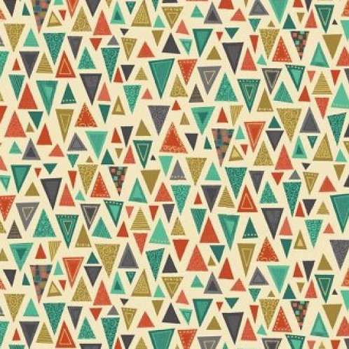 Makower 'Rhapsody' Triangles 93600 Col3 Quilt Fabric