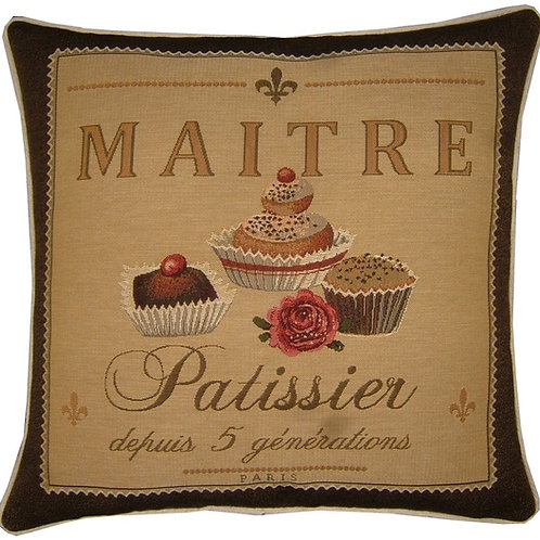 Confectionary Maitre Patissier Tapestry Cushion Cover