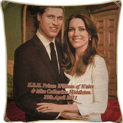 Royal Wedding William and Kate Design No 2 Tapestry Cushion Cover