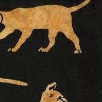 Island Batiks 121416023 Wild Cats Black/Brown Quilt Fabric