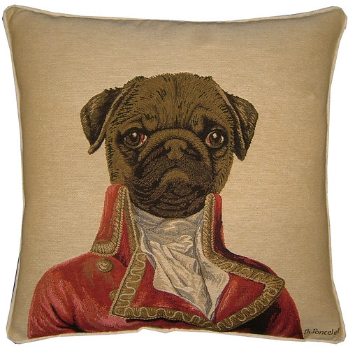 Thierry Poncelet Pug Tapestry Cushion Cover