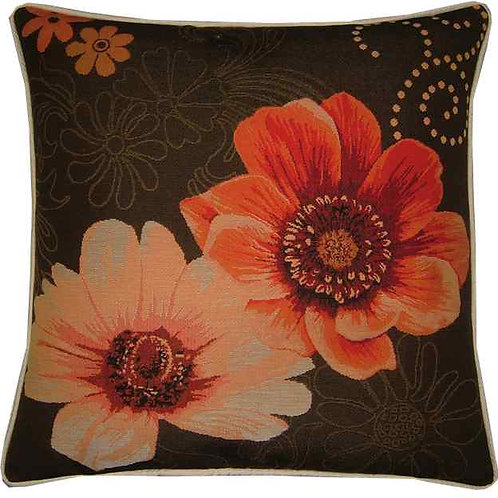 Gerbera Orange Flowers Tapestry Cushion Cover