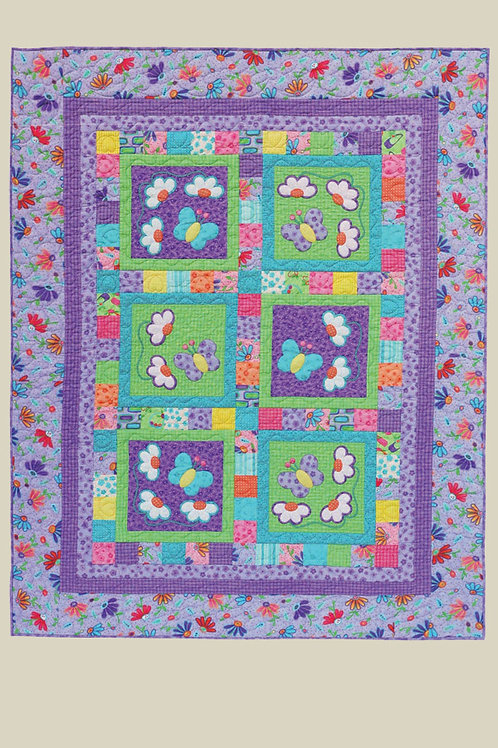 Kids Quilts 'Butterflies & Daisies 2' Single Quilt Pattern