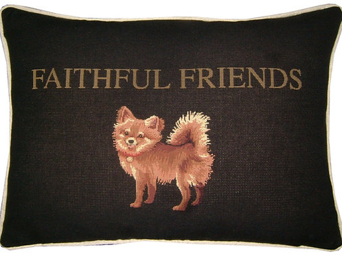 Papillon 'Faithful Friend' Tapestry Oblong Cushion Cover