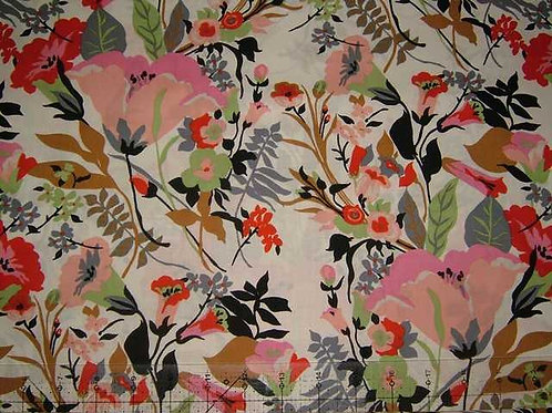 Hokkoh Covent Garden Floral Quilt Fabric Col 1