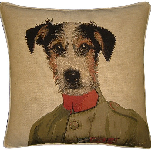 Thierry Poncelet Jack Russell Tapestry Cushion Cover