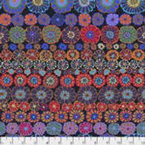 Kaffe Fassett Classics - Row Flowers PWGP169 DARKX Quilt Fabric