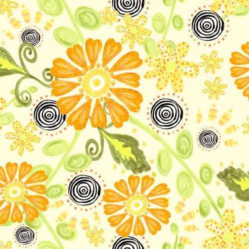Tussie Mussie Jennifer Heyman 1JHC3 Quilt Fabric