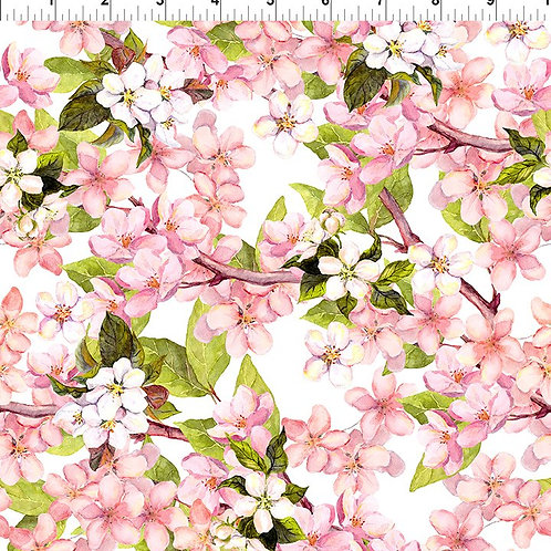 In the Beginning 'Pretty in Pink' Pink Blossom Bush 2PIP-1 Quilt Fabric