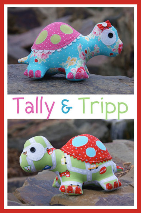 """Melly and Me """"Tally & Tripp"""" Turtle Soft Toy Pattern MM093"""