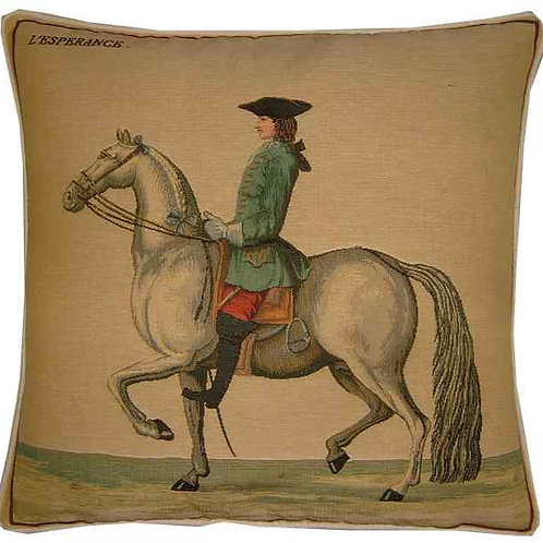 Cavalier Green Tapestry Cushion Cover