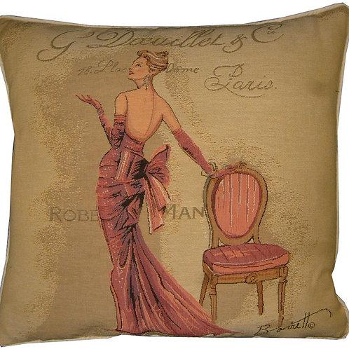 Chad Barrett Couture Fashion Paris Doeuiett Tapestry Cushion Cover