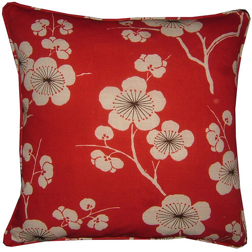 Romo Chidori Red Cushion Cover
