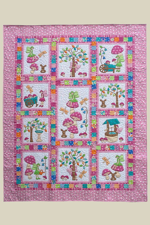 Kids Quilts 'Fairy Tales' (Pink) Girls Single Quilt Pattern