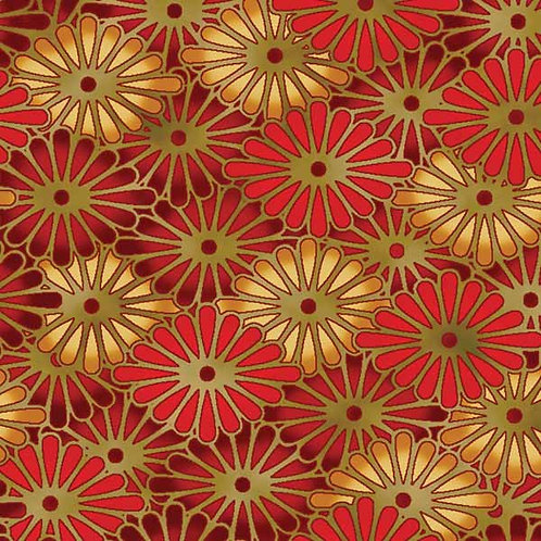 Kona Bay Geisha Dynasty GEIS-21RED Quilt Fabric