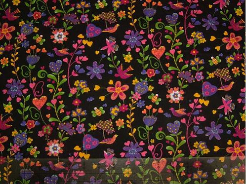 Japanese Flutter Col 5 Novelty Quilt Fabric