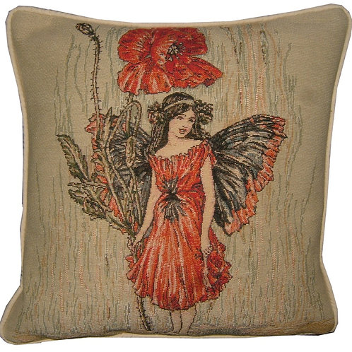 Flower Fairies Poppy Tapestry Cushion Cover