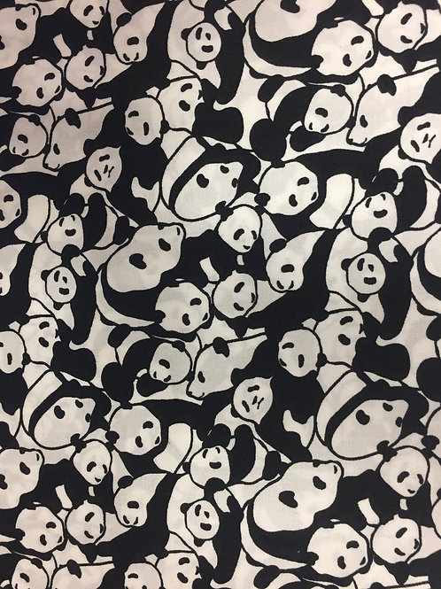 Nutex Puppets Black & White Panda Quilt Fabric