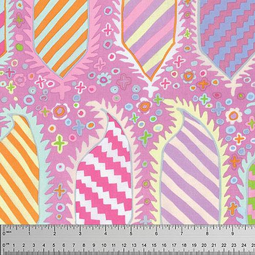 Kaffe Fassett Classics - Striped Heraldic PWGP153 Pink Quilt Fabric