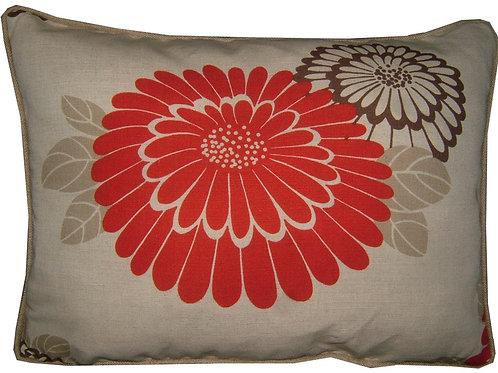 "Romo Katsura Red 45x35cm (18x13"") Oblong Cushion Cover"