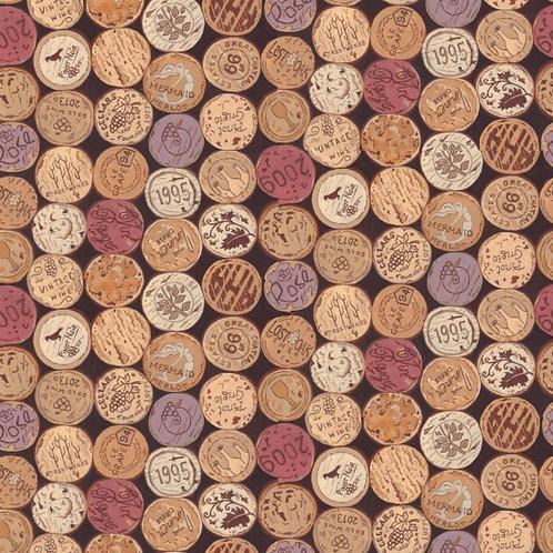 Nutex Kiwiana Vines & Wines Corks Quilt Fabric