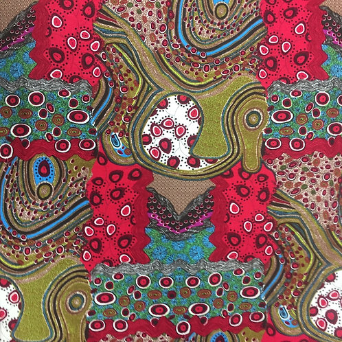 Nutex Australiana Narwee Red Quilt Fabric