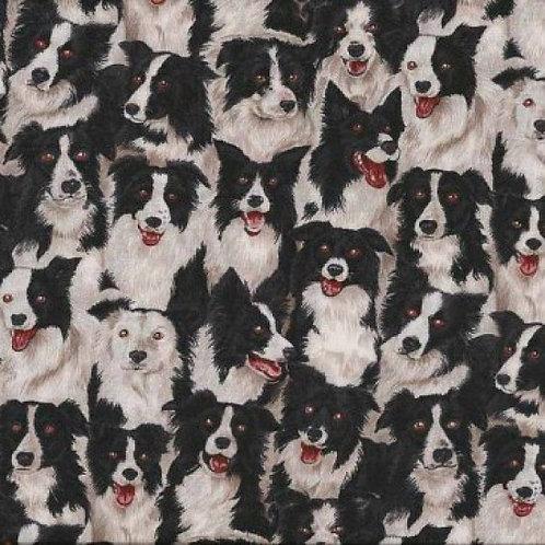 MakowerUK Village Life Sheep Dog Border Collie 94000 Col7 Quilt Fabric