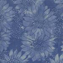 Island Batiks 111516037 Meadow - Blue Flowers Quilt Fabric