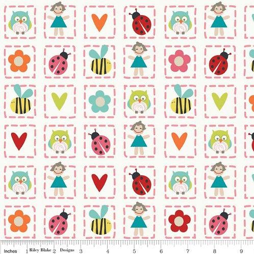 Riley Blake Alphabet Soup Col04 Quilt Fabric