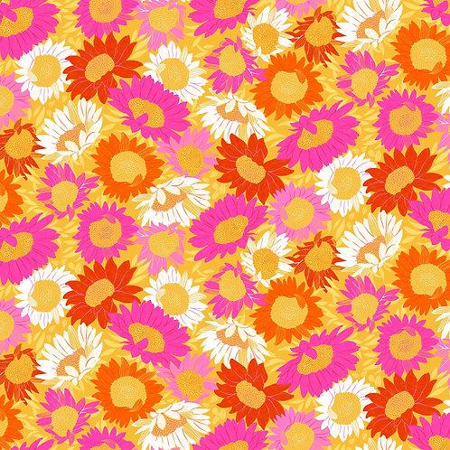 Figo Flora Pink Yellow Orange Floral 90145-52 Quilt Fabric