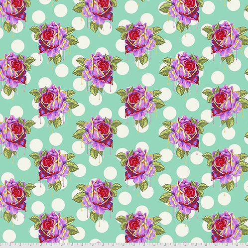 """Tula Pink """"Curiouser"""" Painted Roses Wonder PWTP161 Quilt Fabric"""