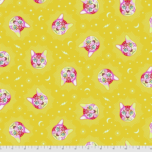 """Tula Pink """"Curiouser"""" Cheshire Wonder PWTP164 Quilt Fabric"""
