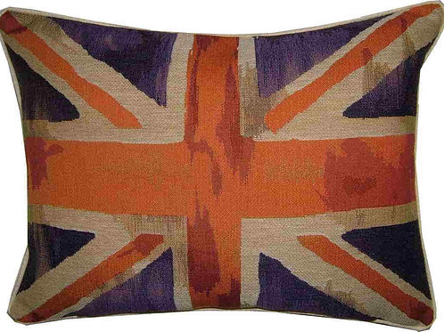 Union Jack Purple Design #3 Flag Tapestry Oblong Cushion Cover