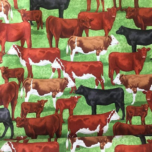 Timeless Treasures Cows Packed Quilt Fabric