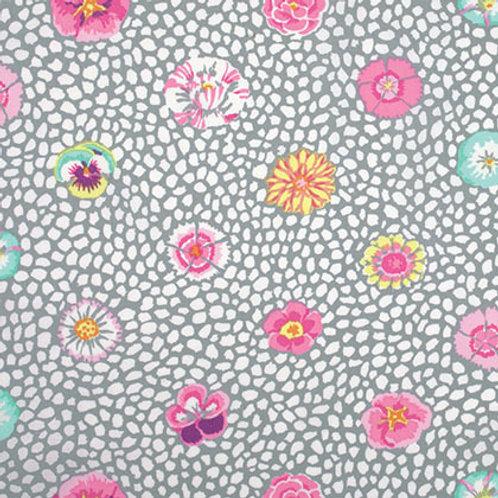 Kaffe Fassett Classics - Guinea Flower Grey PWGP059 GREYX Quilt Fabric