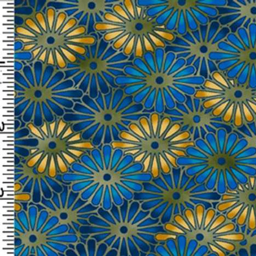 Kona Bay Geisha Dynasty GEIS-21BLUE Quilt Fabric